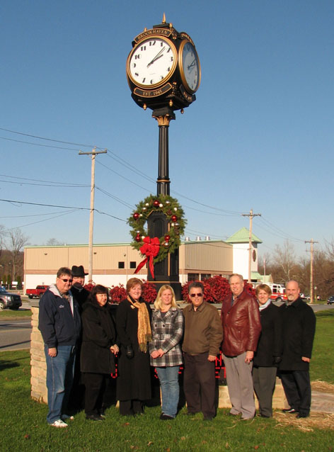 Brookhaven business and political leaders dedicate new town clock