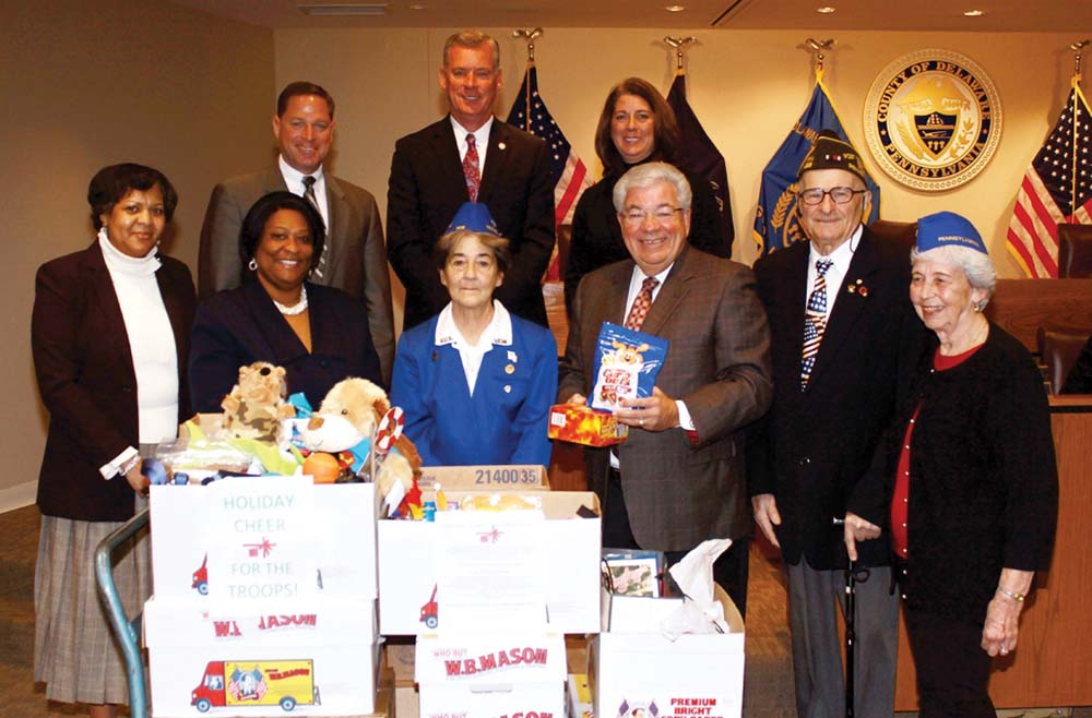 County partners with area VFW Post to send holiday packages to troops overseas