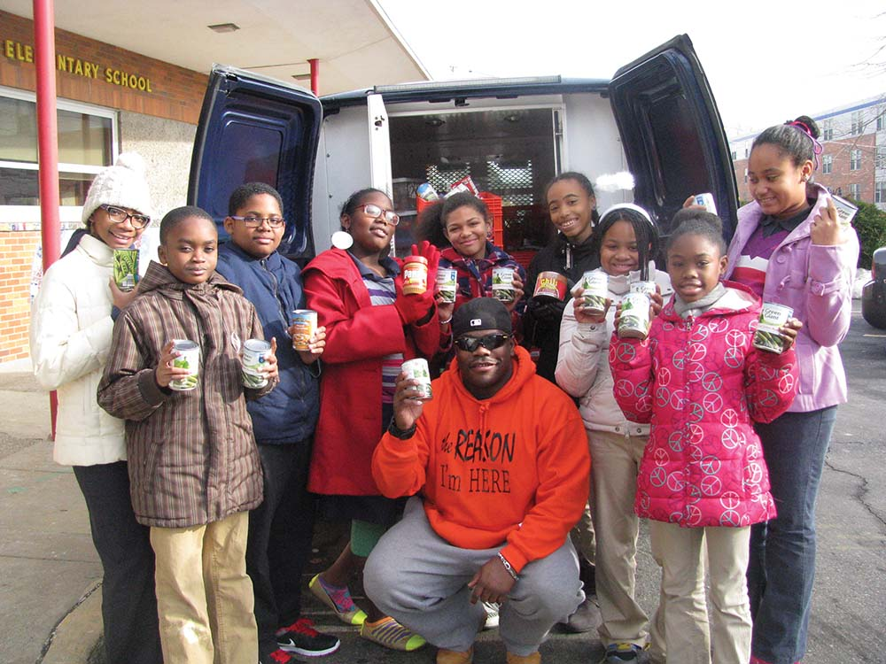 Stetser kids exceed goal for food drive donations