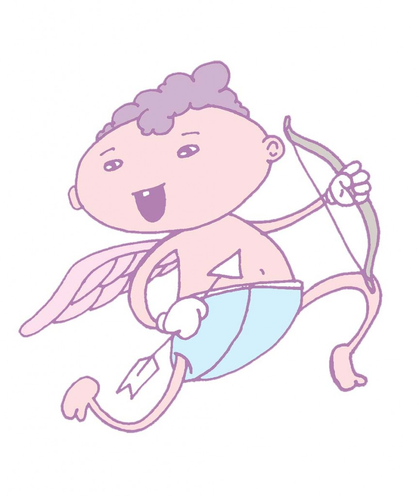 Cupid illustration by Desire Grover