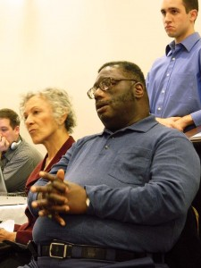 Local environmental activist, Rev. Horace Strand of Faith Temple Holy Church in Chester, questioned the hearing's lack of general public input. Barrar explained the hearing was not intended for that.