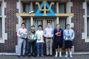 The St. Anthony Hall fraternity has 40 members from around the globe including (from left) Dawit Heck, Daniel Rodriguez, David Carpinello, Miles Marden, Drew Davala and William Sorin. Photo courtesy of Dominique Malandro