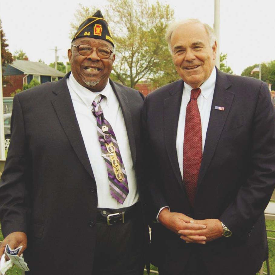Former guv Rendell celebrates Memorial Day in Brookhaven
