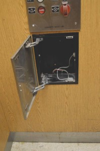 Emergency phones in both elevators need to be replaced.