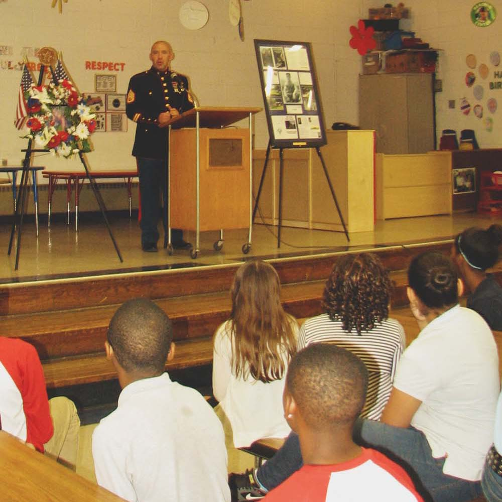 Sharon Hill Elementary honors vet killed in Vietnam War