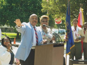 State Reps. Ronald G. Waters (D-191) and Margo Davidson (D-164) both represent parts of Yeadon Borough and presented a joint proclamation to local officials.