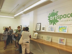 Artists display their work at Art Space in Lansdowne as part of Friendship Circle Senior Center's community art show.