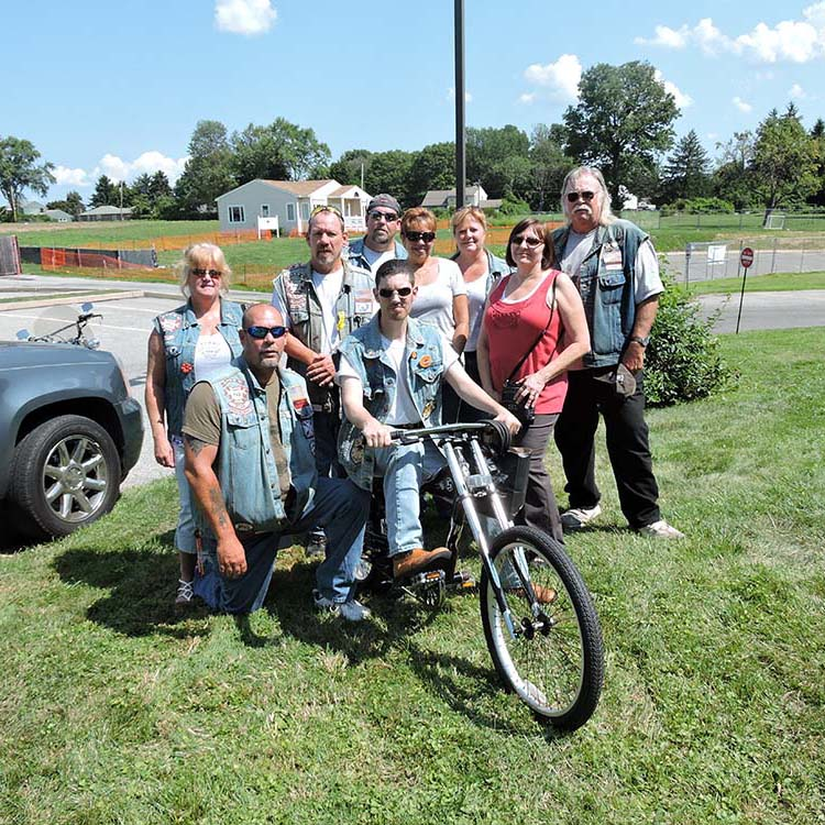 Bikers rally to replace stolen bike for local youth