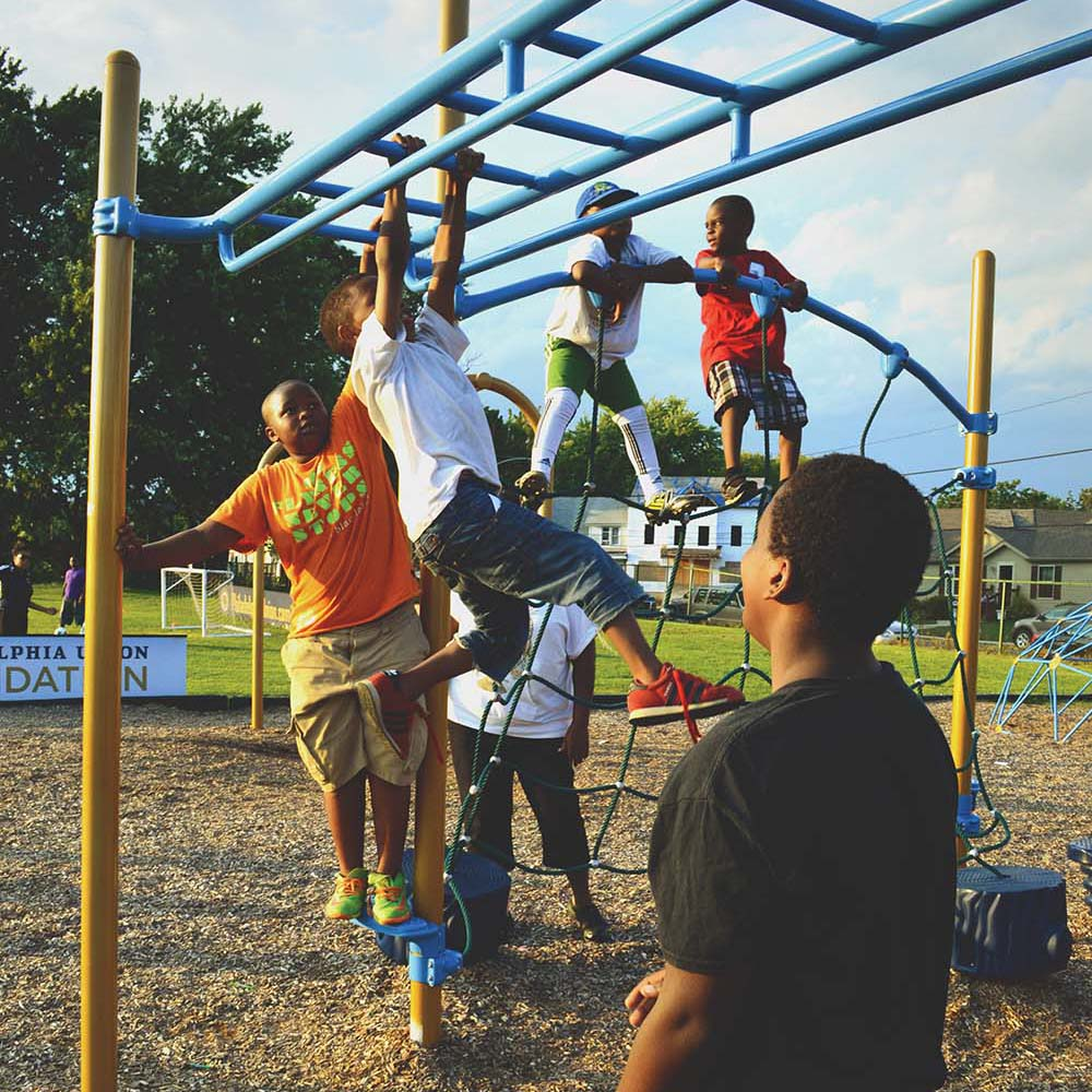 Officials celebrate new playground for city kids