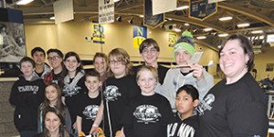 Members of the Chichester High School Science Olympiad team pose with their teachers following the competition at Neumann University.