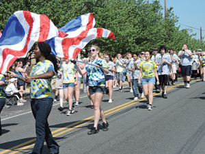 The Sun Valley High School marching band performed several patriotic songs in the Aston Township Memorial Day Parade.