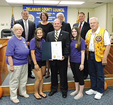 County Council meets in Aston; honors service groups, welcomes new team