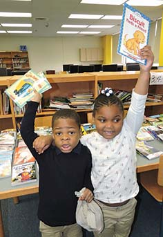 Local elementary students receive free books