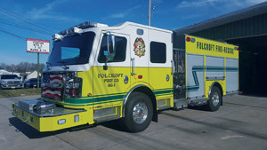 The newest member of the Folcroft borough fire-fighting team is a new state-of-the- art truck.