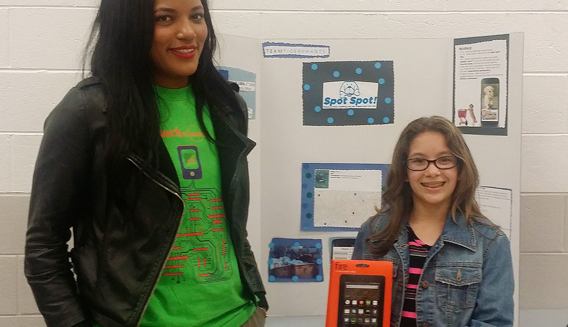 Girls show creativity in STEM projects