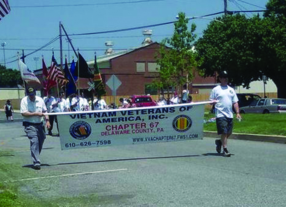 Vietnam veterans marched in the Marcus Hook Memorial Day Parade.