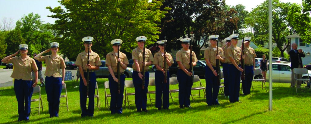 The Sun Valley High School JRROTC provided a gun salute.