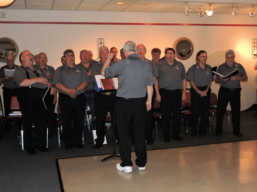 The St. James High School Alumni Choir performed patriotic songs in Brookhaven and Aston.