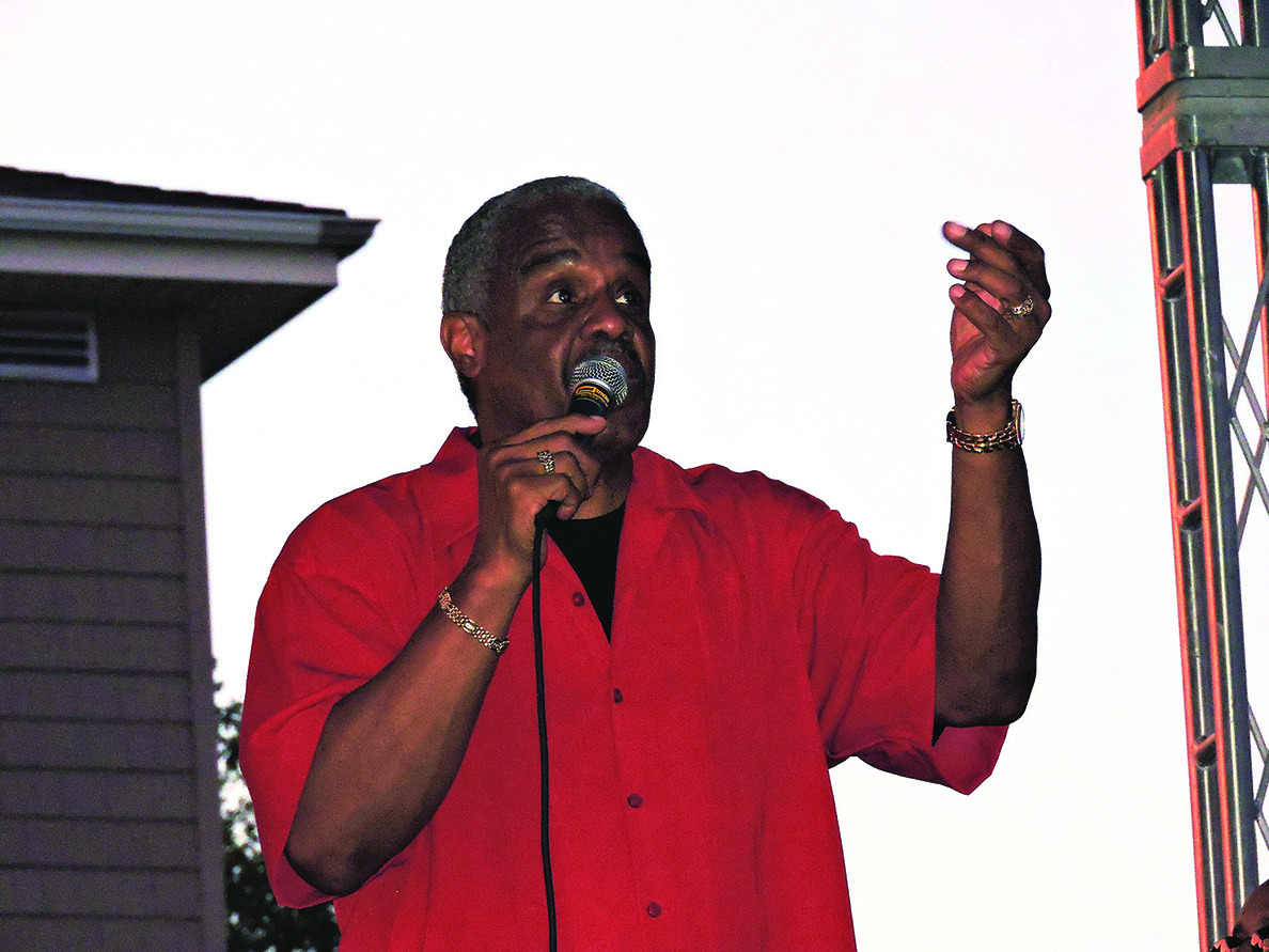 Russell Thompkins, Jr. delighted the crowd with his booming falsetto voice. The Grammy-nominated singer is the original voice on all of The Stylistics' hits from the 1970's.