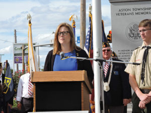 State Rep. Leanne Krueger-Braneky (D-161) discussed how the events of Sept. 11, 2001 changed America.