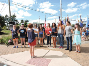 The Sun Valley High School Chorus performed during the 911 ceremony.