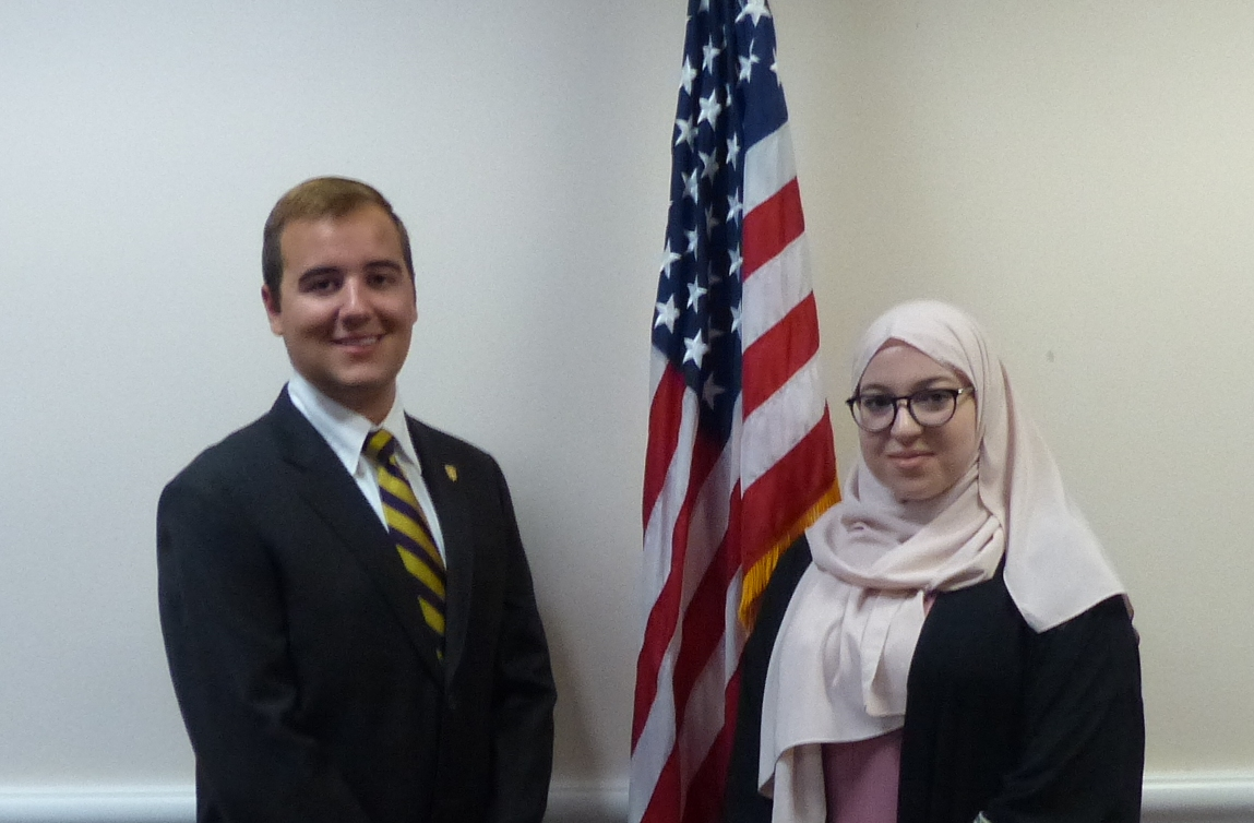 Two new student representatives on the Upper Darby School Board are (from left) Ghada Ayad and Joseph Vizzarri.