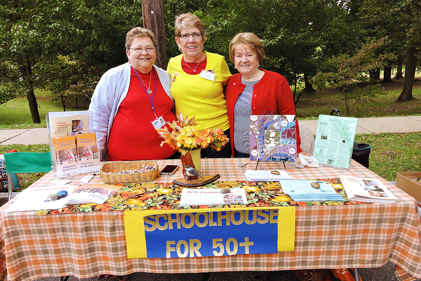 Schoolhouse For 50+ members Sandi Clancy, Judi Haines and Betty Schmucker distributed information at Glenolden's Community Day.