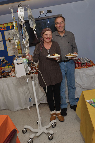 Cancer patients, like this one from last year, enjoy the family's dinner and comfort and have so for the past 10 years.