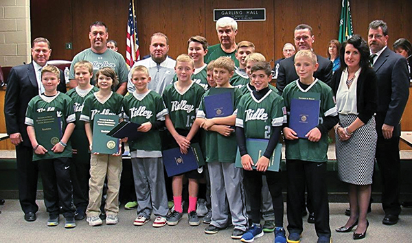We Are the Champions! Area leaders honor Young Ridley Little Leaguers