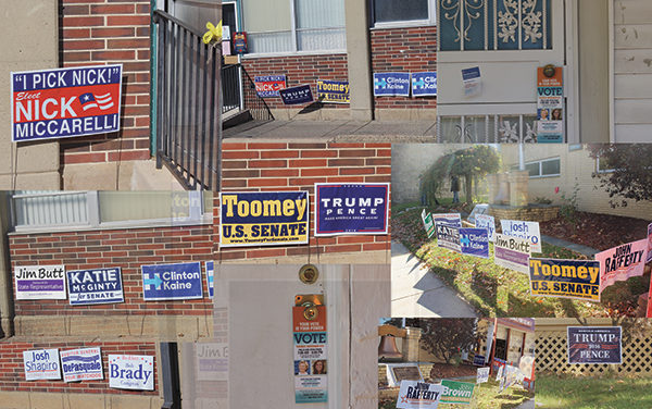 Old-fashioned political yard signs sprout in digital age