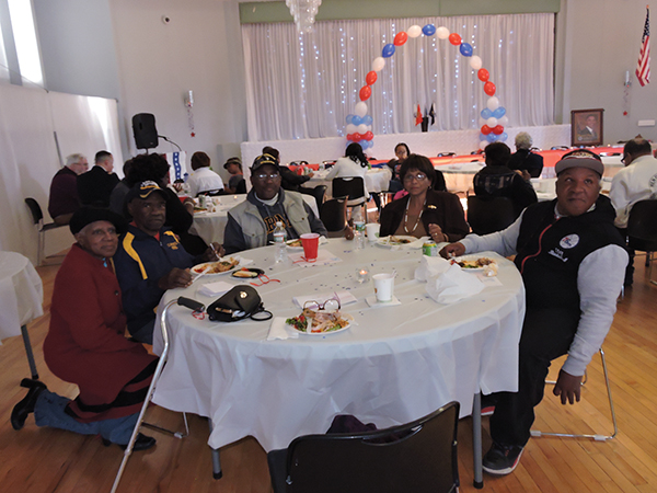 Local veterans Maxine Brown, Harry Brown, Lawrence Watson, Ann Watson, and Keith Ryan enjoyed the luncheon.