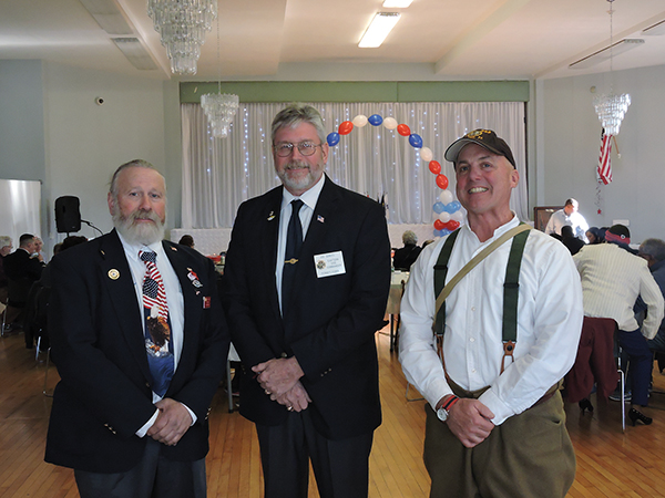 Mike Kane, of American Legion Post #926, Joe Gunkel, of Post #821, and Eugene Hough, co-founder and monument education/preservation  field specialist of the Saving Hallowed Ground Foundation, were there for the luncheon.