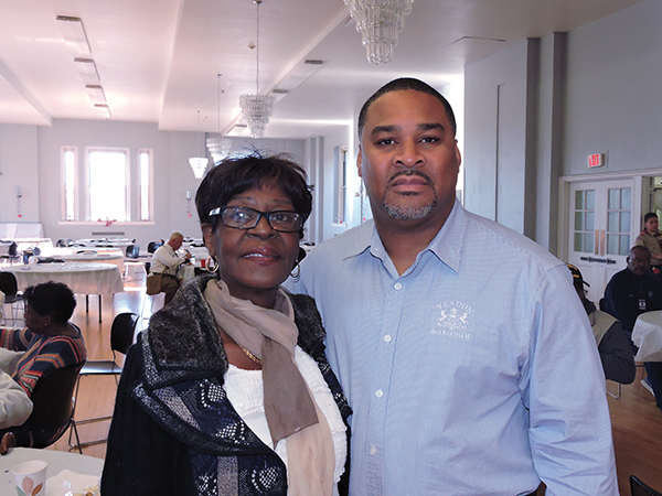 Councilwoman Clara Jackson with Yeadon Borough Manager Joe Bland.