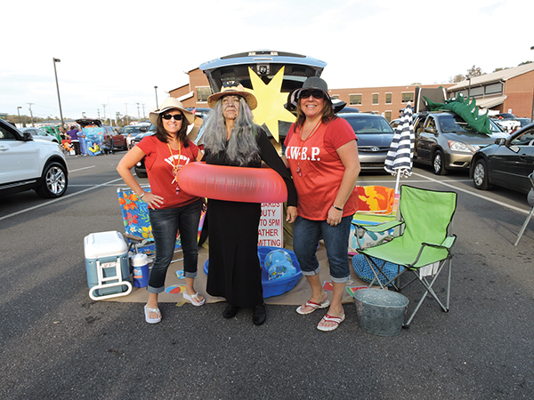 Having a ball at Witchy Beach are Maria Leslie, Mary Ann Hatton and Brookhaven Councilwoman Donna Fooks.