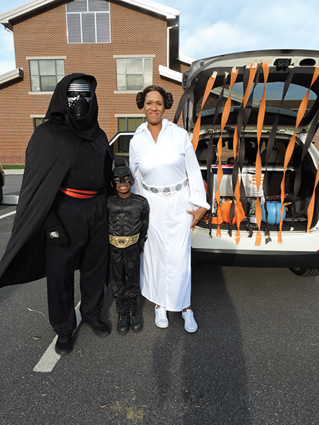 Marlon and Kim McGraw and their son, Marlon, Jr., were in the Star Wars spirit at the Brookhaven Trunk or Treat.