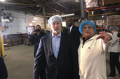 Sharon Hill Innovators: Wolf visits Indian food processing plant