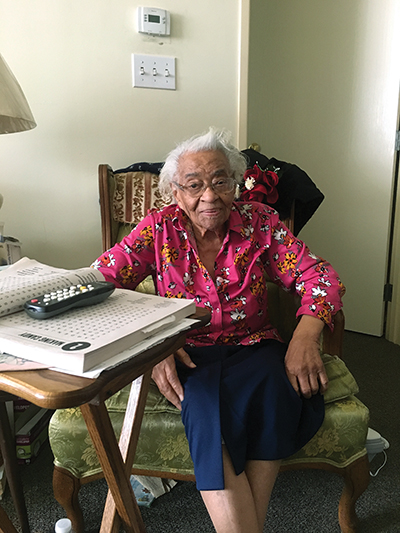 At 103, her world is all about food, family, friends and the Lord