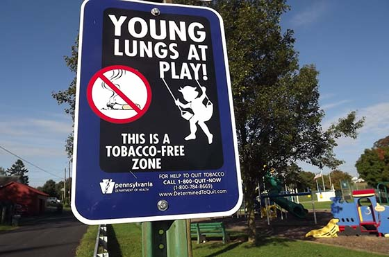 Township joins growing list of tobacco-free playgrounds and parks