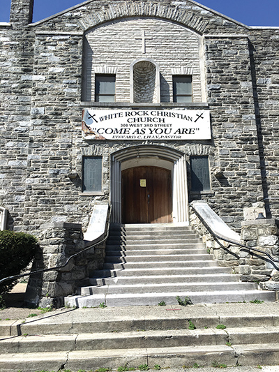 The iconic White Rock Christian Church has apparently dissolved, the congregation merged and worships under another name in Woodlyn and several church-owned properties are slated for public auction next month.
