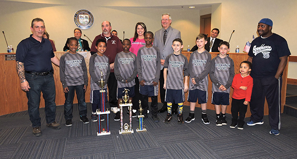 Brookhaven Council recognized the championship boy's nine year-old baseball team at last week's Council meeting.