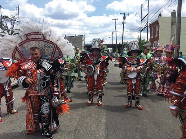 A variety of Mummers groups graced the parade this year.