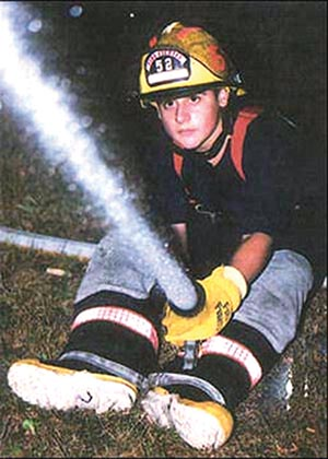 Brookhaven resident Christopher Kangas, a junior firefighter, was killed May 4, 2002 while responding to a fire on his bicycle.