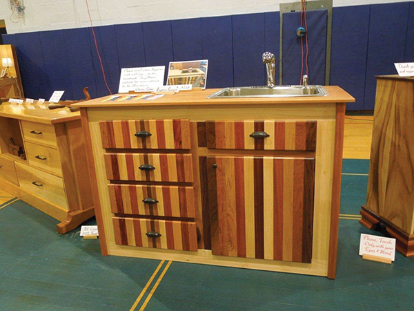 """Aigars Panzer made this sink cabinet along with the """"tiny house."""""""