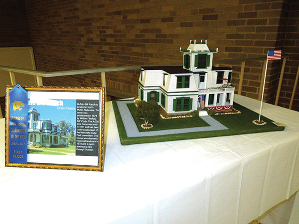 """Student Chris Finzio did this architectural engineering project on """"famous homes"""" and featured Buffalo Bill's Ranch."""