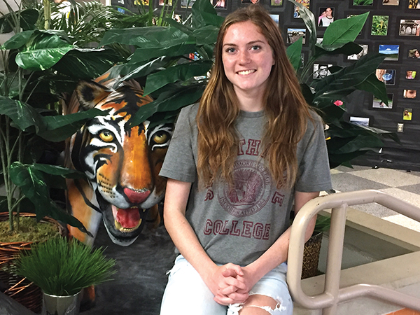 MNHS grad Lauren Holt is one of seven incoming freshmen at Swarthmore College chosen to receive a full tuition grant as a McCabe Scholar.