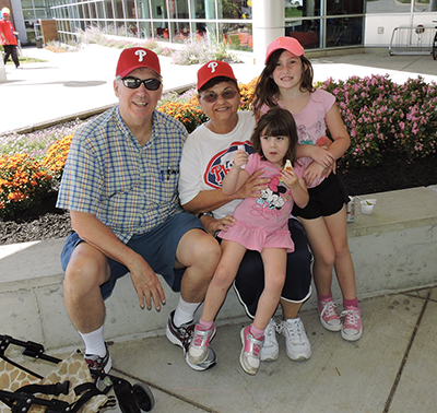 Dave Smith, his friend Pat Hortman and Dave's granddaughters, Grace and Cora Baxter attended the DCCC 50th anniversary.