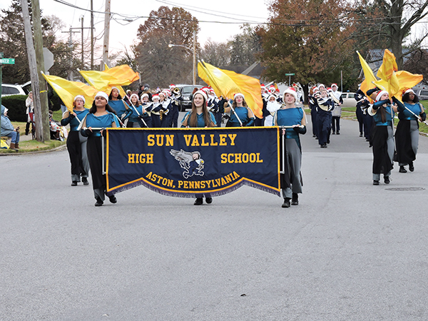 The Sun Valley High School Marching Band is always a welcome participant in any parade.