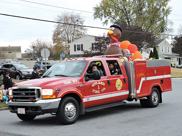 The Upland Fire Department was a big hit with its turkey float.