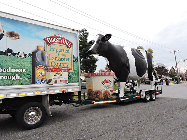 Parade goers enjoyed the Turkey Hill cow.