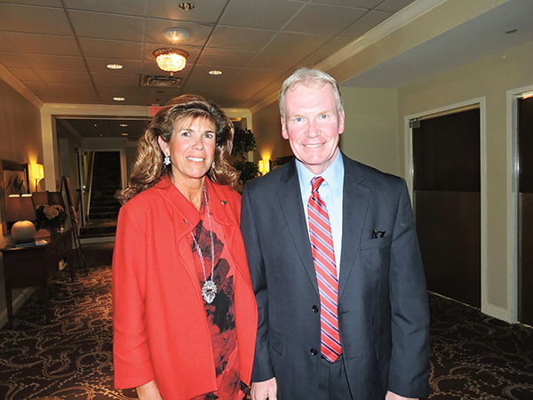 Victorious candidate for Common Pleas Court judge, soon-to-be-former District Attorney Jack Whalen savored his narrow victory with his wife, Peg.